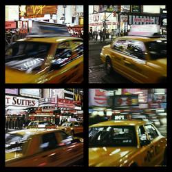 Speeding Yellow Cab