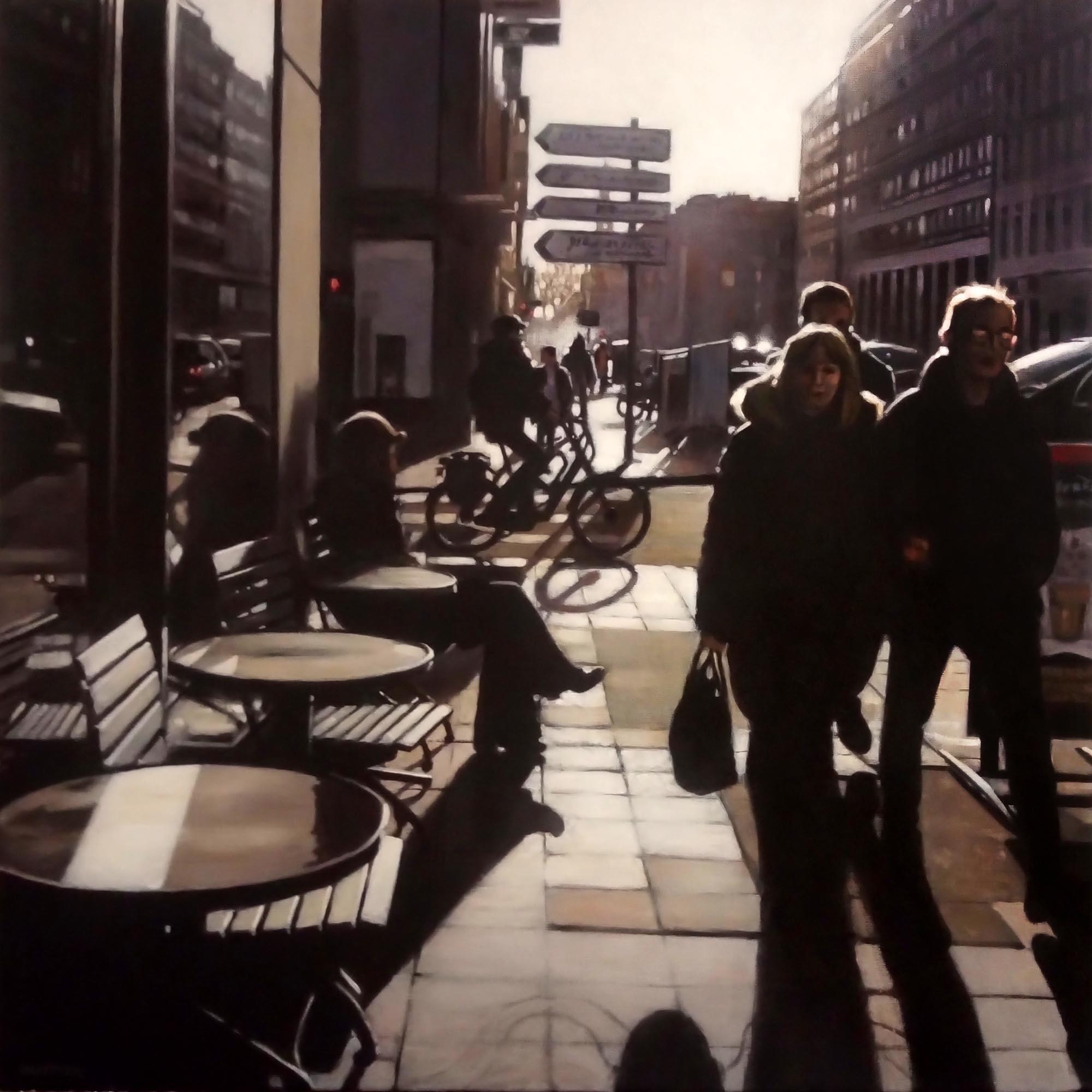 Rue Nationale à Lille, Acrylique sur toi