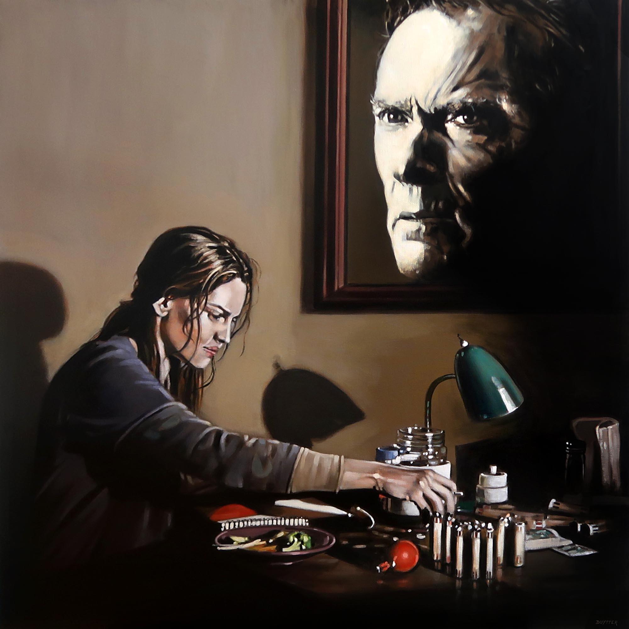 Hommage à Clint Eastwood, Acrylique sur