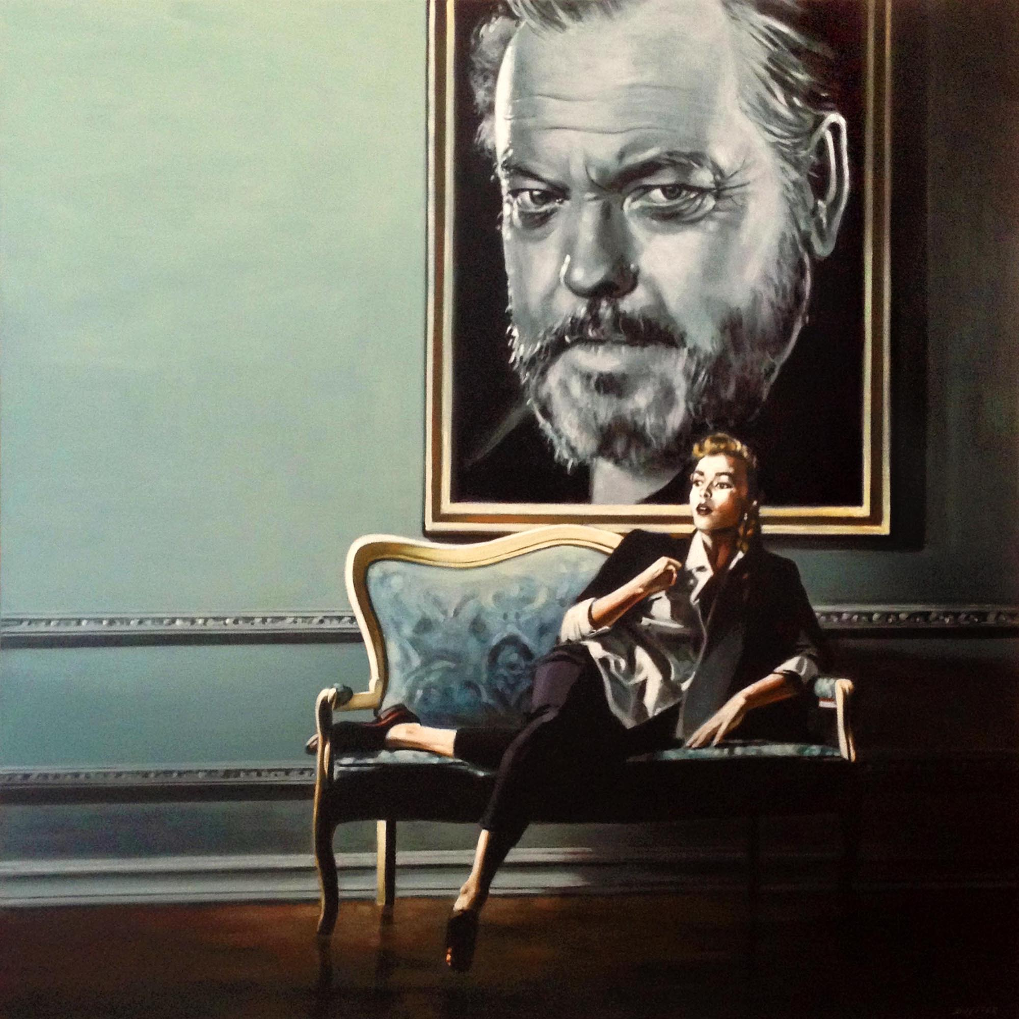 Hommage à Orson Welles, Acrylique sur to