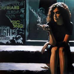 Woman, acrylique sur toile, 100_100cm