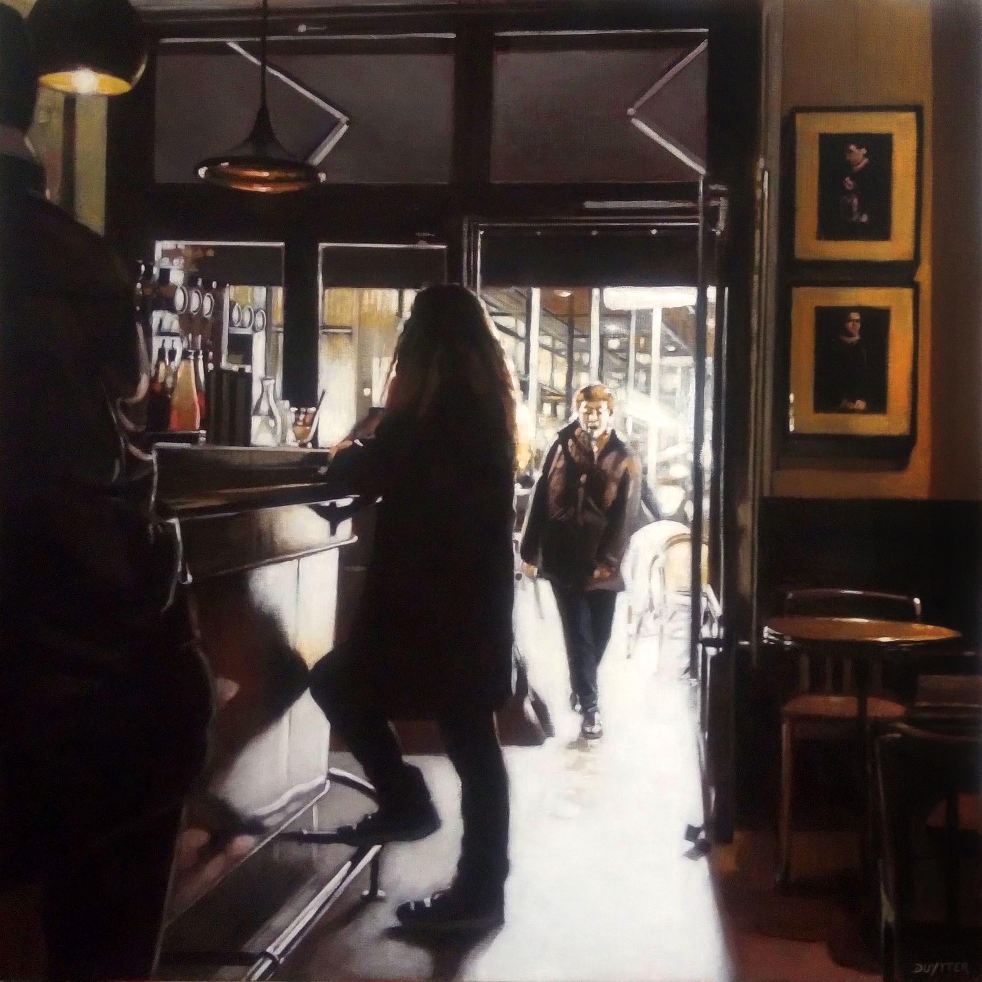 Café du matin Toulouse, Acrylique sur to