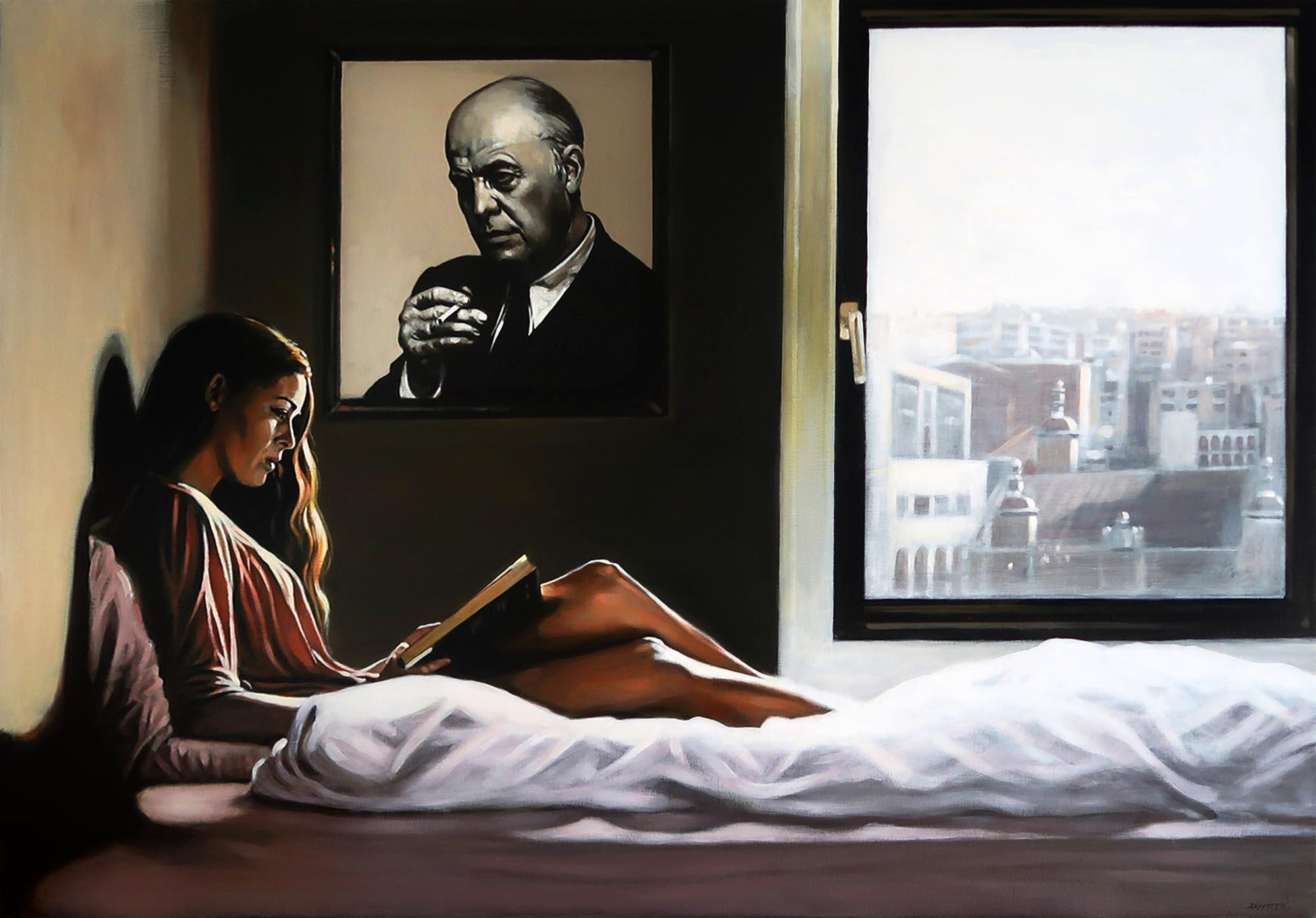 Hommage à Edward Hopper, Acrylique sur t