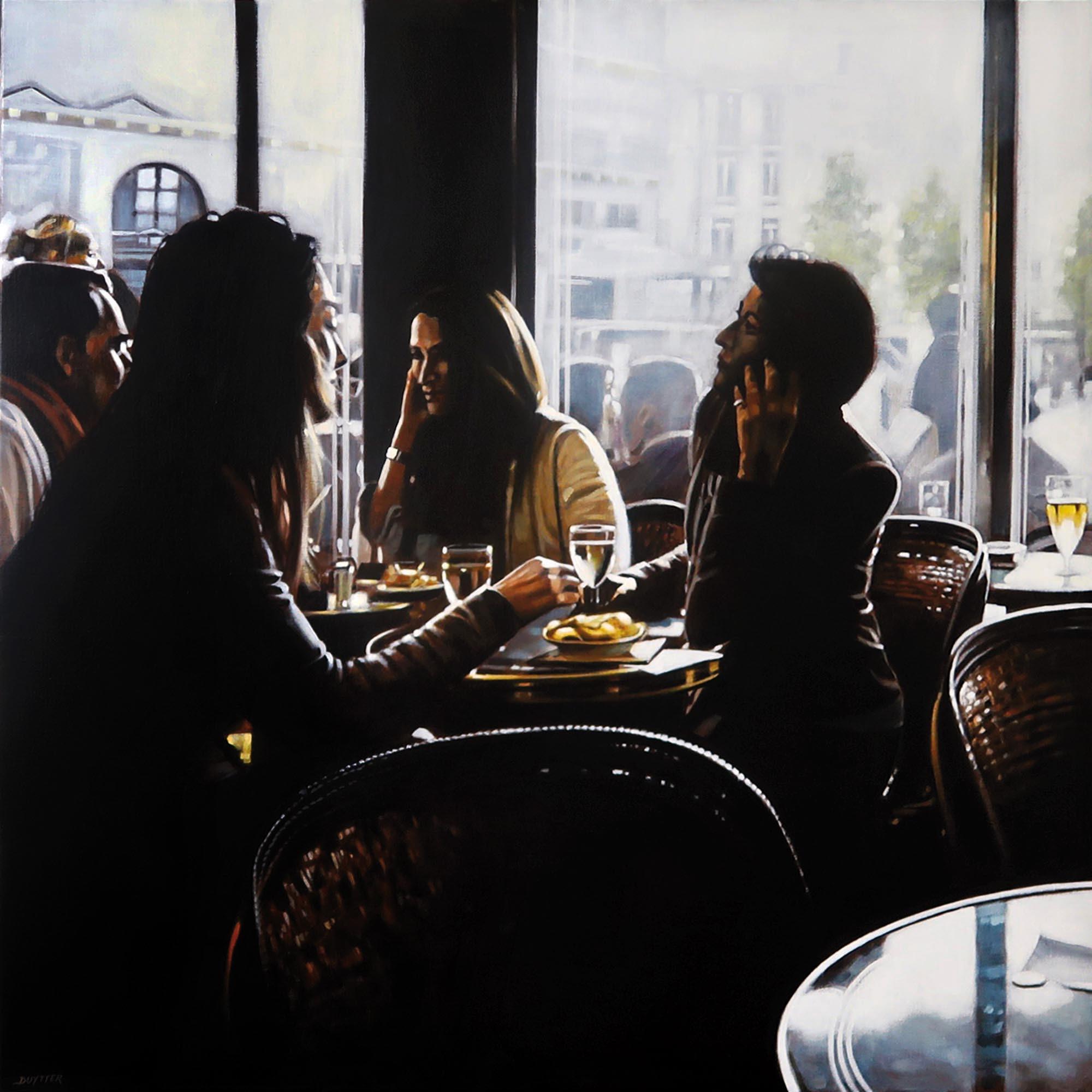Café de Flore Paris, Acrylique sur toile