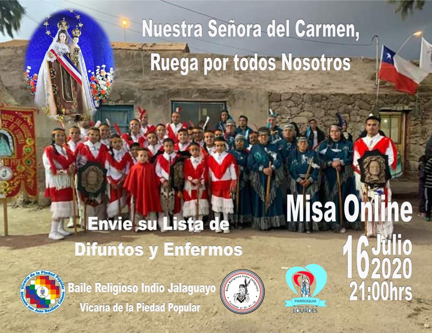 Misa Online BBRR Indio Jalaguayo 16Jul20