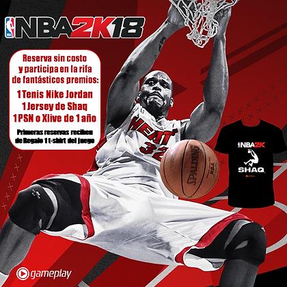 NBA 2K18 Xbox One. PRE ORDEN