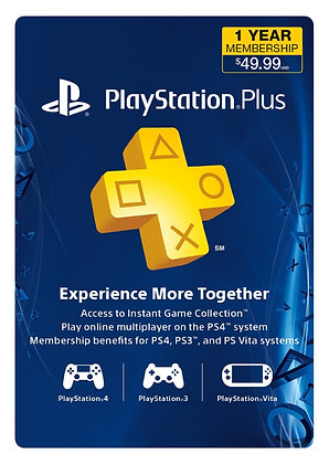 Playstation Plus 1 Año PS4
