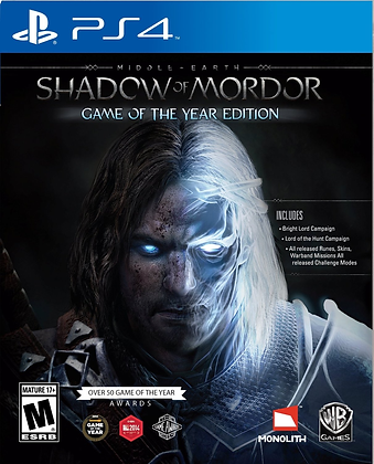 Shadow of Mordor Game of the Year .PS4
