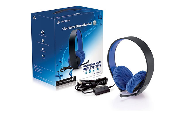 PlayStation Silver Wired Stereo Headset. PS4