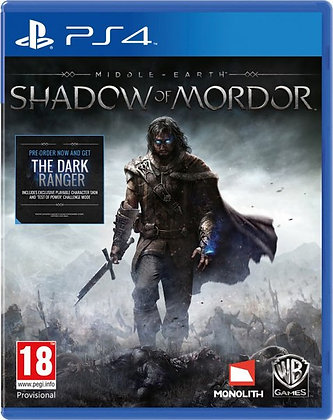 Middle Earth Shadow of Mordor. Ps3