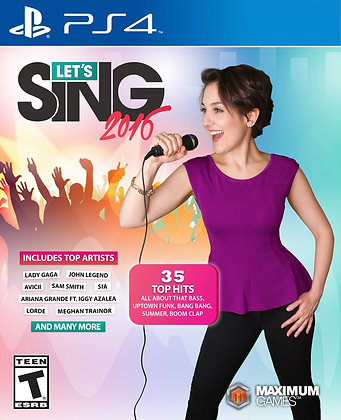 Let's Sing 2016. PS4