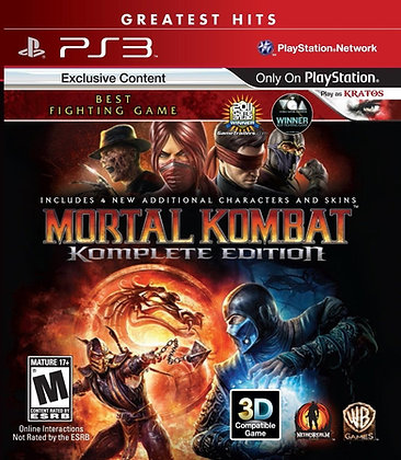 Mortal Kombat Komplete Edition. PS3