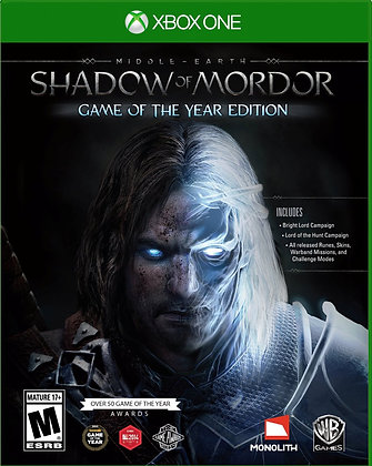 Shadow of Mordor: Game of the Year. Xbox one