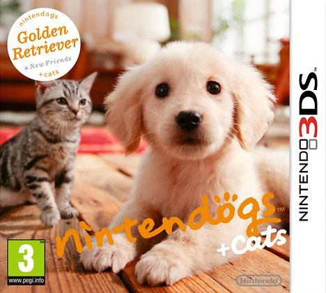 NINTENDOGS+CATS GOLDEN RETRIEVER 3DS