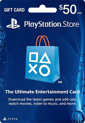 PLAYSTATION CARD US$50 PS3 Y PS4