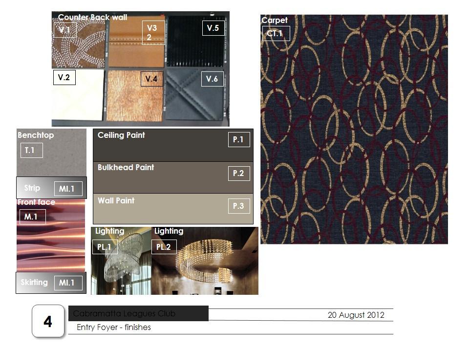 concept design board w/ material ref