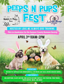 Peeps + Pups Fest Fundraiser April 3