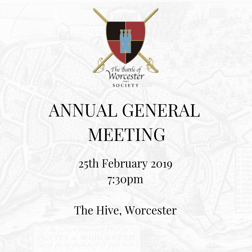 Battle of Worcester Society Annual General Meeting