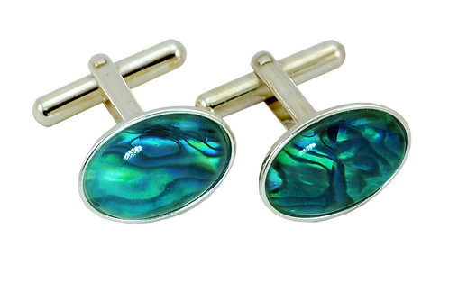 Oval Cufflinks with Cabochon