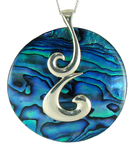 Disc with Sterling Silver Koru