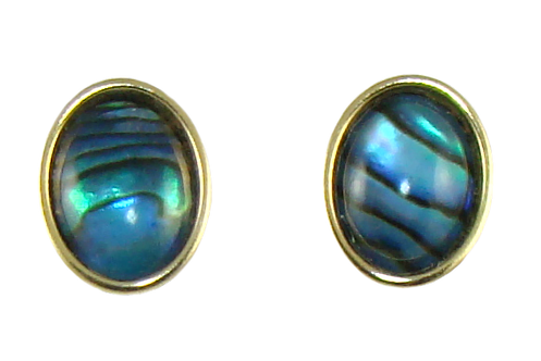 Oval Earrings with Cabochon 6x8mm