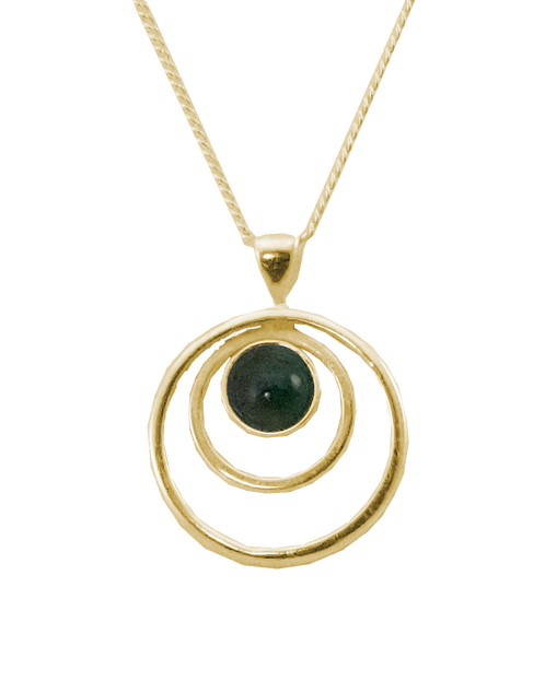 Triple Circle Pendant with Cabochon