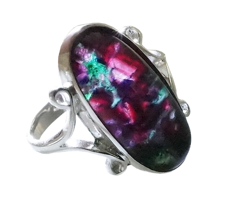 Ruby Rock Oval Ring set in Sterling Silver