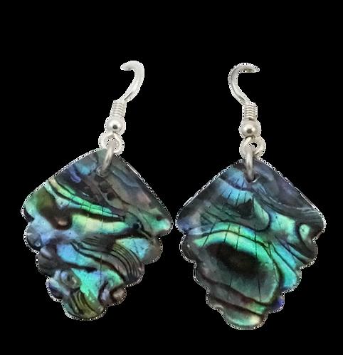Rhombus Paua Shell Earring