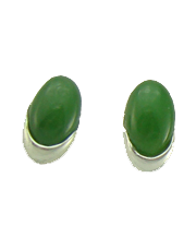 Capped Oval Stud Earrings