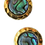 Thumbnail: Round Stud Earrings With Cabochon