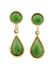 Tear Drop Earrings with Cabochon