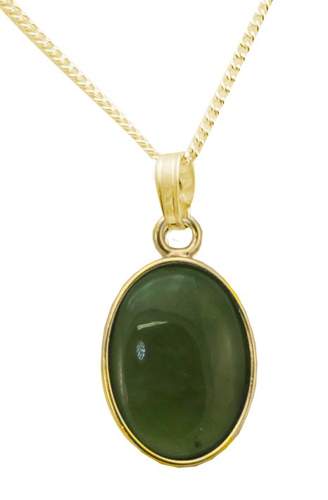 Oval Pendant with Cabochon