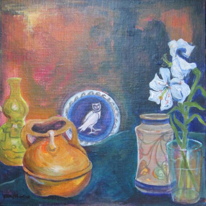 Still life in the studio No.7 (Vanitas series)