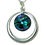 Thumbnail: Round Pendant with Cabochon