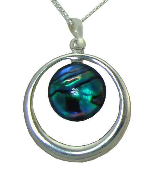 Round Pendant with Cabochon