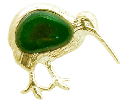 Kiwi Brooch