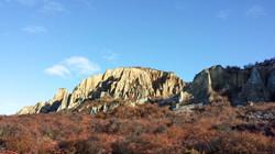 Clay cliffs located in Central Otago
