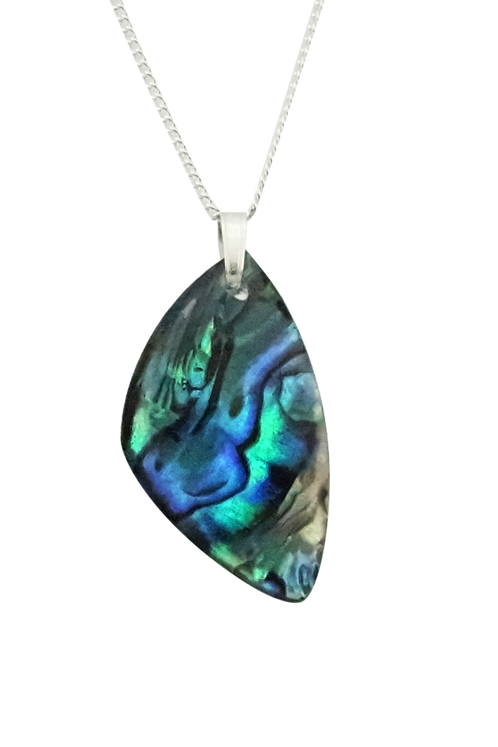 Triangle Paua Shell Pendant