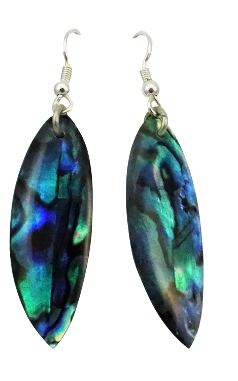 Long Leaf Paua Shell Earring