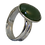 Thumbnail: Sterling Silver Ring with Oval Cabochon