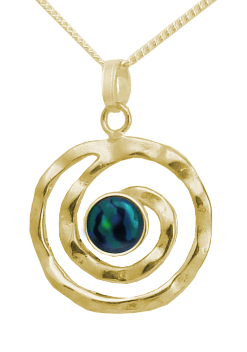 Koru Pendant with Cabochon