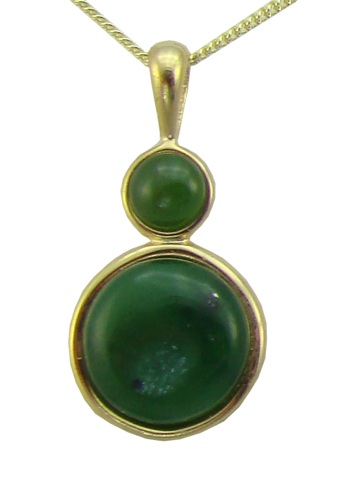 Drop Pendant with Dual Cabochon