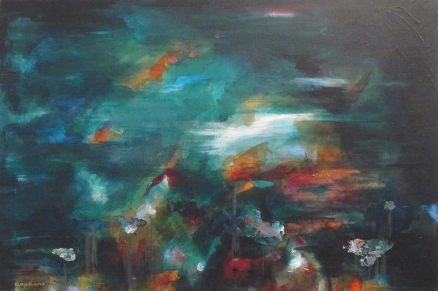 Moonlight on the water - Marina Series V
