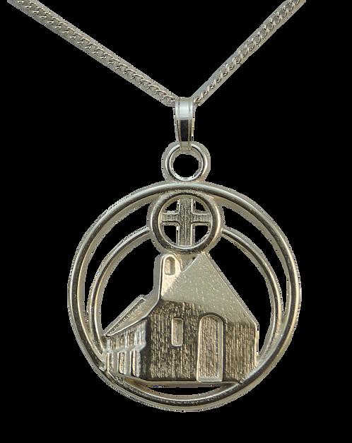 Sterling Silver Pendant of Lake Tekapo Church