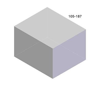 Rotomoulded polyethylene rectangular storage tank