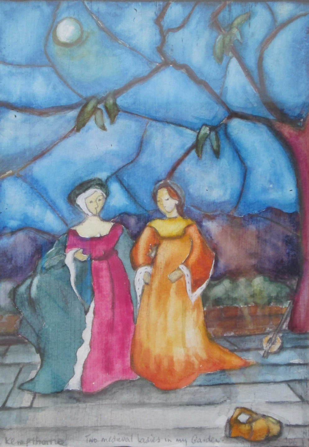 Two medieval ladies in my garden