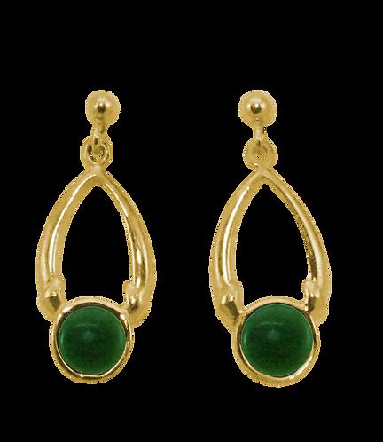 Oval Drop Stud Earrings
