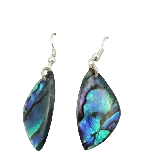 Triangle Paua Shell Earring