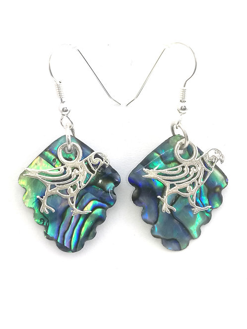Paua Earrings with Kea