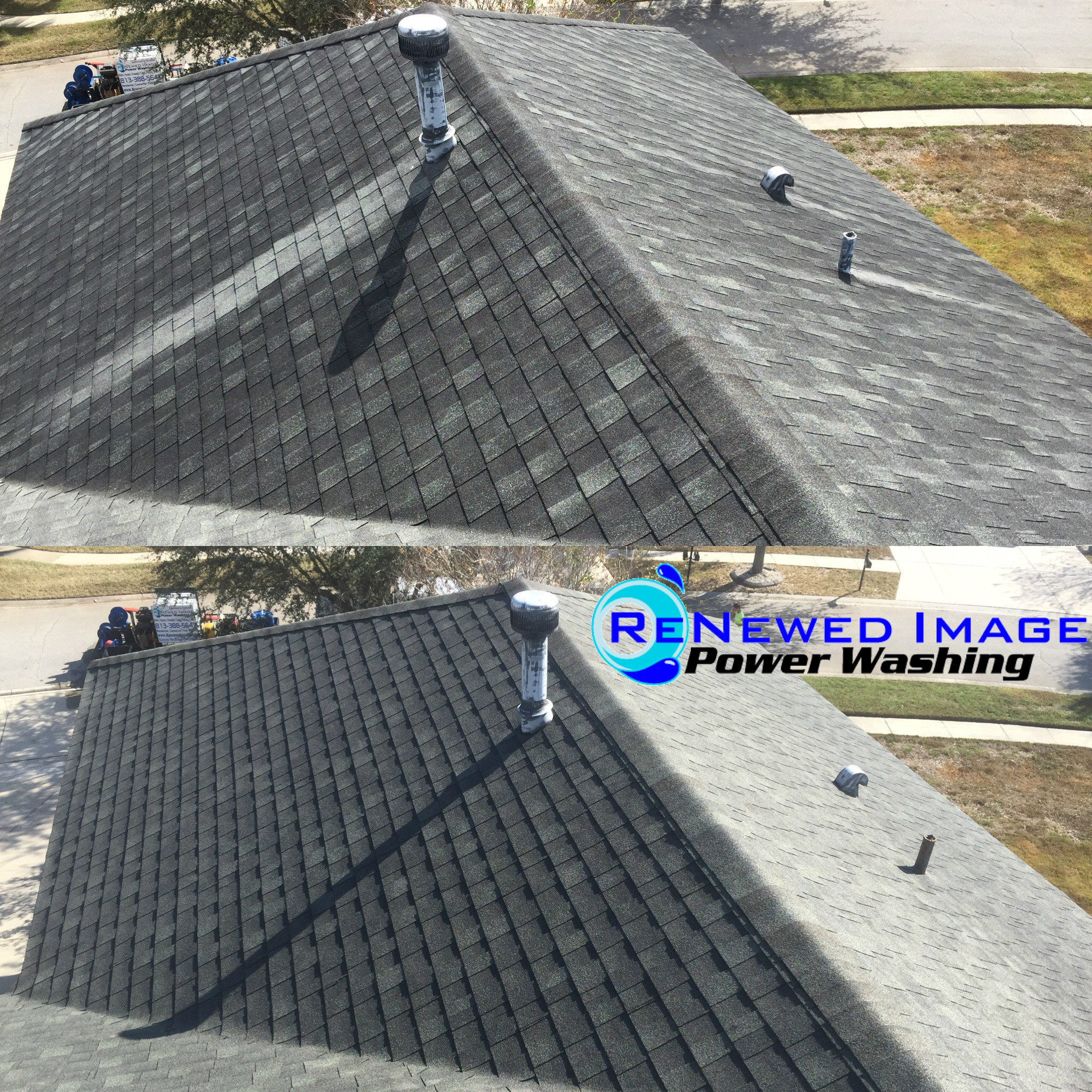 wesley chapel low pressure roof cleaning